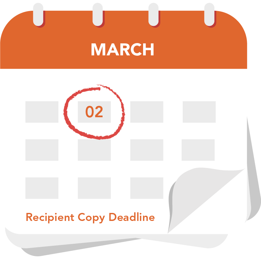Recipient Copy Deadline